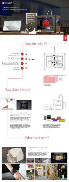 New MakerBot #Infographic at World's Largest Collection of #3DPrinting Infographics by Dimensionext & Stratasys...
