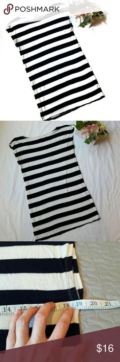 Pink Rose ⏺️ Sailor stripe dress In perfect condition. Lovely blue and white striped dress/long shirt. This can be worn as a dress or a long shirt over leggings. Length and bust Measurements provided in pics above. From a smoke and pet free home. Fast shipping! Office - Vacation - Wedding - Fun - Dress up - date night - cruise - spring - summer *IF YOU LIKE MY ITEMS, please FOLLOW ME to see NEW ARRIVALS that are added weekly! * Pink Rose Dresses