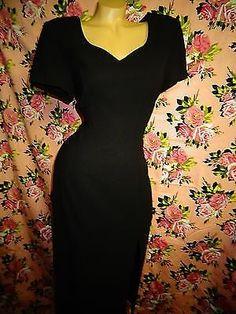 Preview Collection Black Short Sleeve Long Dress Side Slit Back 8 Steam Punk | eBay