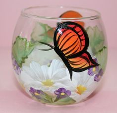 Painted Wine Glasses | Painted Garden - Hand Painted Wine Glasses, Libertyville IL 60048