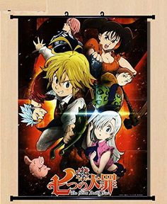 Home Decor Anime The Seven Deadly Sin Wall Scroll Poster Fabric Painting 236315 inch 16 ** More info could be found at the image url.
