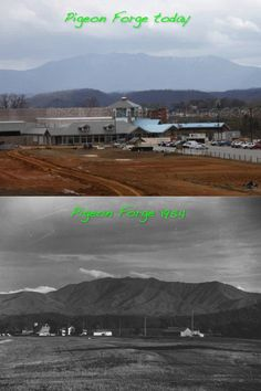 Pigeon Forge Then and Now. Tanger Shopping Outlet going up.