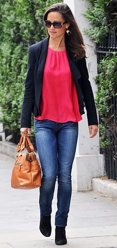 Love how the Middleton girls can rock a blazer. A classic staple for any closet. This is why they are fashion icons.