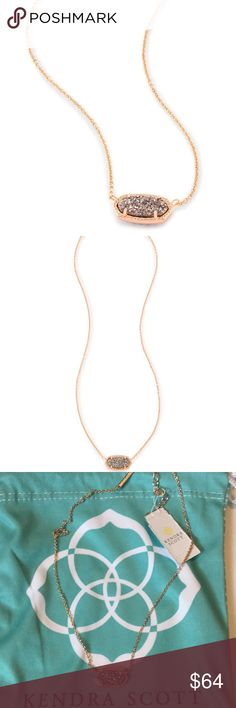 NWT KENDRA SCOTT ELISA NECKLACE IN DRUSY ROSE GOLD NWT KENDRA SCOTT ELISA NECKLACE IN DRUSY ROSE GOLD!! RSG 080 brand new with the tags and dust bag! Kendra Scott Jewelry Necklaces