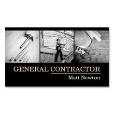 General Contractor Builder Manager Construction Business Card Templates. This is a fully customizable business card and available on several paper types for your needs. You can upload your own image or use the image as is. Just click this template to get started!