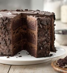 """""""All-the-Stops"""" Chocolate Cake. Looking for a delicious dessert? Enjoy this rich chocolate cake coated with crunchy cookie crumbs – a delightful treat. Chocolate Wafer Cookies, Chocolate Wafers, Chocolate Flavors, Chocolate Recipes, Mocha Chocolate, Chocolate Buttercream, Cupcake Recipes, Baking Recipes, Cupcake Cakes"""