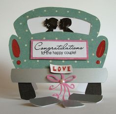 My Craft Spot: Fun Shape Card for the Happy Couple!