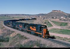 RailPictures.Net Photo: DRGW 3151 Denver & Rio Grande Western Railroad EMD GP40 at Castle Rock, Colorado by Frank Keller