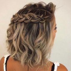 Short Hairstyles Design in 2019 Trend - Short Hair Styles Medium Hair Styles, Curly Hair Styles, Natural Hair Styles, Braided Hairstyles For Wedding, Up Hairstyles, Hairstyle Ideas, Hairstyles Pictures, Hairdos, Short Braids