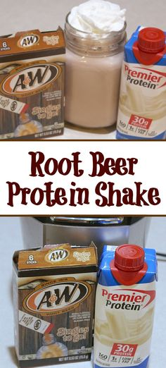 This Root Beer Protein Shake Recipe is the perfect way to satisfy a sweet tooth! Plus only three ingredients to stay on track! This Root Beer Protein Shake Recipe is the perfect way to satisfy a sweet tooth! Plus only three ingredients to stay on track! Protein Smoothies, Protein Shake Recipes, Protein Foods, Smoothie Recipes, High Protein, Fruit Smoothies, Homemade Protein Shakes, Best Protein Shakes, Protein Power