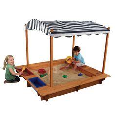 KidKraft 5' Rectangular Sandbox with Canopy