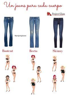 Jean para cada tipo de cuerpo — Project Glam