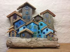 Source by karinvinther The post appeared first on Wooden. Driftwood Sculpture, Driftwood Art, Art Sculpture, Clay Houses, Miniature Houses, Wooden Houses, Wooden Art, Wooden Crafts, Driftwood Projects