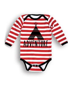 Look at this Black, White & Red 'Adventure' Teepee Bodysuit - Infant on #zulily today!