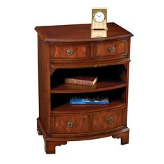 Mahogany Bowfront Bedside Table | Tables | Furniture | ScullyandScully.com