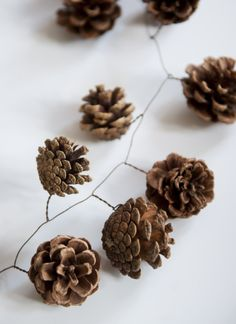 pine cones garland
