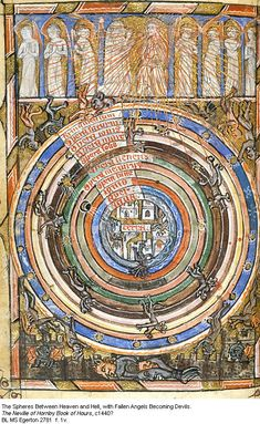 Spheres Between Heaven and Hell. Neville of Hornby Hours, c1440
