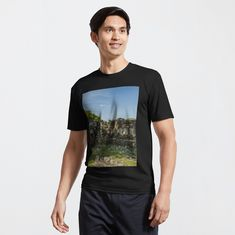 Promote | Redbubble Photo Macro, Fjord, My T Shirt, Tee Shirts, Female Models, Chiffon Tops, Camouflage, Shirt Designs, Blue And White