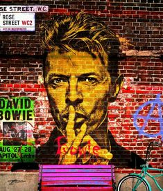 Bowie on the wall #streetart #urbanart #art   Good morning