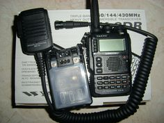 My Ham Radio HT. It's a Yaesu VX-8DR. It's a beast, I've had it for like a 9 months now and I still have used all it's functionality. It operates 6 and 2 meters and 440mhz. 5 watts of power, APRS, weather channels, and tons more! Water proof to a degree. On mine I have a Comet aftermarket antenna that boosts reception pretty well on 2 meters.