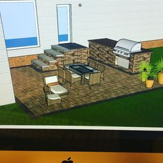 Working on our next patio and outdoor kitchen design. We love using SketchUp! . What software do you use for design? . . Comment below . . KENTUCKY'S PREMIER LANDSCAPE CONTRACTOR . .  . . . . #sketchup #sketchup3d #landscaping #hardscape #techobloc #outdoorkitchen #paverpatio #whyihardscape #dreamscapesoflouisville #louisville #kentucky
