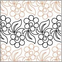 Alfresco quilting pantograph pattern by Lorien Quilting