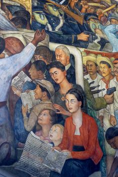 Diego Rivera mural in the National Palace, Mexico City. Diego Rivera mural in the Palacio Nacional in the main square of Mexico City. Diego Rivera Frida Kahlo, Frida And Diego, Diego Rivera Mural, Mexican Artists, Tempera, Art Plastique, Chicano, Matisse, Mexico City