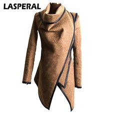 ways to Original Price US $17.30 Sale Price US $14.71 LASPERAL High Quality Women Blend Jacket Autumn Winter Warm Turtleneck Jackets Coats Fashion Irregular Overcoats Windbreaker Z30 better in under 30 seconds #Wool#Blends