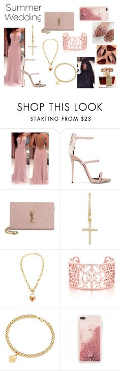 """Summer wedding"" by jenadieu ❤ liked on Polyvore featuring Giuseppe Zanotti, Yves Saint Laurent, Jennifer Meyer Jewelry, Chanel and Roja Parfums"