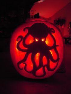 octopus pumpkin carving stencil - Google Search
