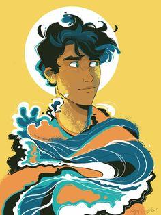 Percy Jackson Fan Art, Percy Jackson Drawings, Memes Percy Jackson, Percy Jackson Books, Percy Jackson Fandom, Percy Jackson Wallpaper, Poseidon Percy Jackson, Viria Percy Jackson, Solangelo