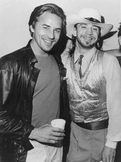 Stevie with actor Don Johnson