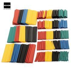 Electric Insulation Heat Shrink Tube Cable Sleeve Wrap Black 8 Sizes 150 Pcs