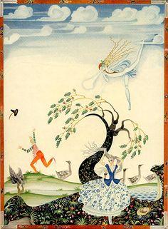 The Goosegirl -- La Gardeuse D'Oies Fleur-de-Neige et D'autres Contes de Grimm Kay Nielsen