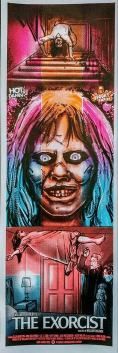 The Exorcist The Exorcist 1973, Horror Films, Scary Movies, Movies And Tv Shows, Movie Tv, Basement, Movie Posters, Collection, Art
