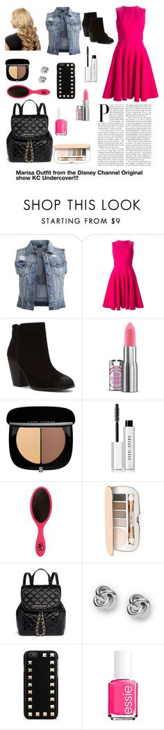 """""""Marisa Outfit for the Disney Channel original show KC Undercover"""" by dance-fashion-love ❤ liked on Polyvore featuring VILA, Alexander McQueen, Report, Marc Jacobs, Bobbi Brown Cosmetics, The Wet Brush, Jane Iredale, MICHAEL Michael Kors, FOSSIL and Valentino"""