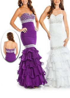 Gorgeous Chiffon Mermaid Beaded  Dress