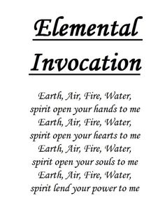 Elemental Invocation | Witches Of The Craft®  - Pinned by The Mystic's Emporium on Etsy