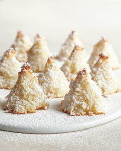 Sugar-Dusted Macaroon Trees, Recipe from Martha Stewart Living, December 2012