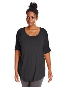 Columbia Womens Plus Lumianation Elbow Sleeve Shirt 1X Black * Details can be found by clicking on the image.(This is an Amazon affiliate link and I receive a commission for the sales)