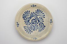 Blue-and-white dish Cir 830 AD From the Tang Dynasty-One of the earliest known blue and white wares found in China, Gongxian Kilns