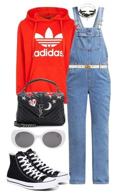 """Untitled #657"" by veronice-lopez on Polyvore featuring adidas, Topshop, Converse, Yves Saint Laurent, Alexander Wang, Gucci and vintage"