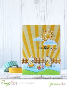 Hello crafty friends, happy Monday! I'm back again with another SugarPea Designs project. For today's card, I used the Quackers stamp set and Whatever The Weather dies. Here is what I c…