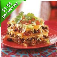 Top 10 Cheap Dinner Recipes  Looking for cheap recipes? Try one of our best budget recipes! You're sure to find a new favorite with these top-rated cheap dinner recipes - each can be made for less than 2 dollars per serving! Enchilada Casser-Ole! Recipe