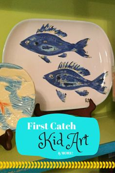 What a cute idea! Your child catches their first fish-bring it to Arts' Desire to create a keepsake platter! Check out this art project and more in our latest blog! Little Girl Jewelry, Girls Jewelry, Moms' Night Out, Louisiana Art, Lake Charles, Wheel Thrown Pottery, One Fish, Art Party, Family Gifts