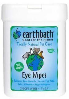 Earthbath Grooming Wpies Eye Wipes 25 Ct.