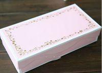 23.3*11.8*5 cm rosa contenitore di regalo di carta, rosa cookie box per il cioccolato