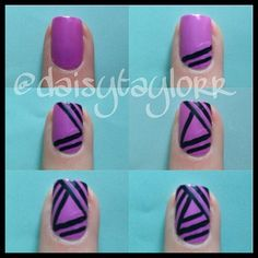 37 Best Triangle Nail Art Images On Pinterest Cute Nails Pretty