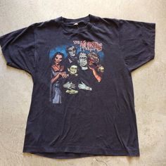 "80's The Munsters T-Shirt $48+$8(shipping) domestic. Size M/L (26""x19""). Contact the shop at 415-796-2398 to purchase by phone or PayPal afterlifeboutique@gmail and reference item in post."