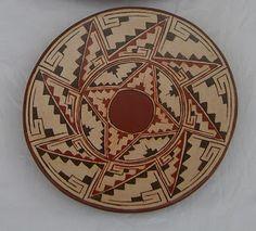 Artesania en Ceramicas: PLATOS DIAGUITAS Porcelain Ceramics, China Porcelain, Geronimo, Ancient Art, Rock Art, Old And New, Geometry, Nativity, Decorative Plates